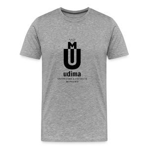 Camiseta Premium hombre logo negro- UDIMA - Camiseta premium hombre