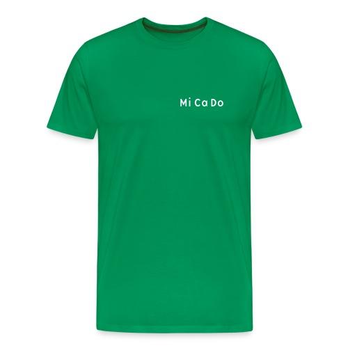 T-Shirt (m.) grün, Schrift weiß - Männer Premium T-Shirt