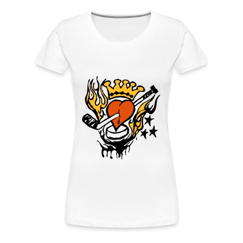 Hockey Heart - Frauen Premium T-Shirt