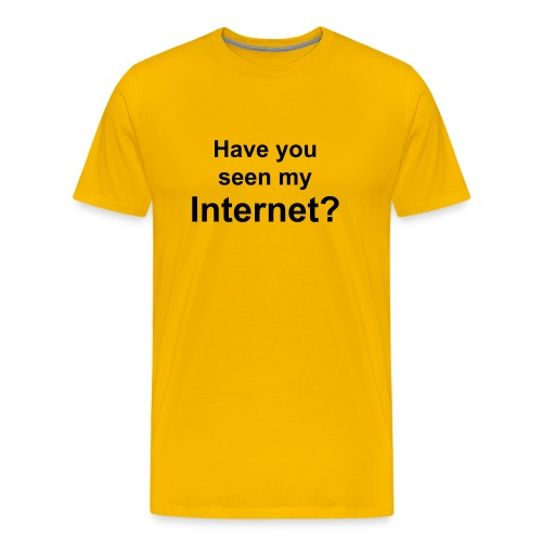 Missing Internet | T-shirt - Men's Premium T-Shirt