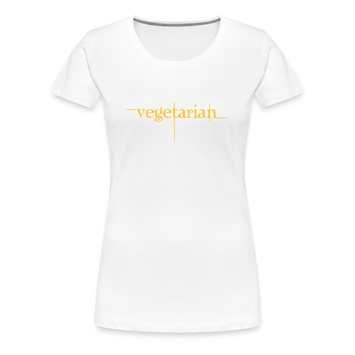 vegerarian t-shirt - Dame premium T-shirt