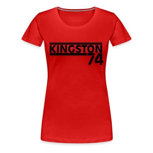 KINGSTON 74 NOIR - T-shirt Premium Femme