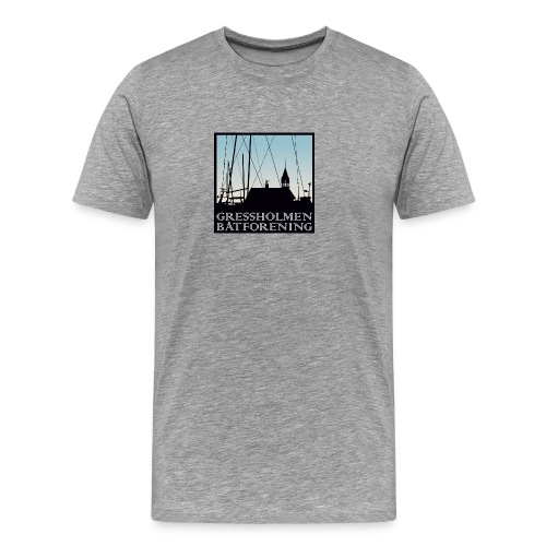 herre, grå - Premium T-skjorte for menn