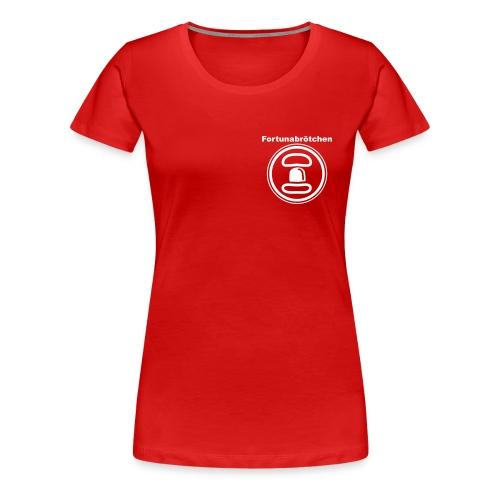 Girlieshirt Fortunabrötchen 2 Logos - Frauen Premium T-Shirt