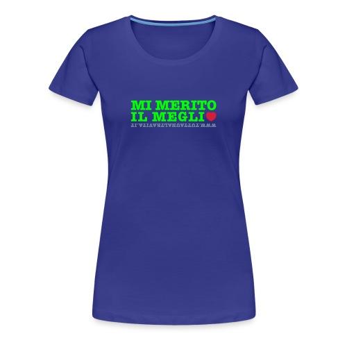Tshirt Mi merito il meglio viola - Maglietta Premium da donna