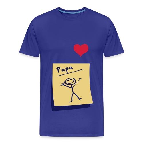 Hartje papa - Mannen Premium T-shirt