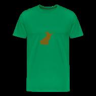 T-Shirts ~ Männer Premium T-Shirt ~ Walter Frosch (Gold auf Moosgrün)