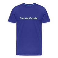 Tee shirts ~ T-shirt Premium Homme ~ Fan de Panda, Night & Day