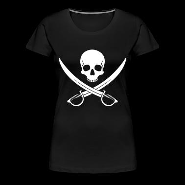 Black Pirate Skull Women's T-Shirts