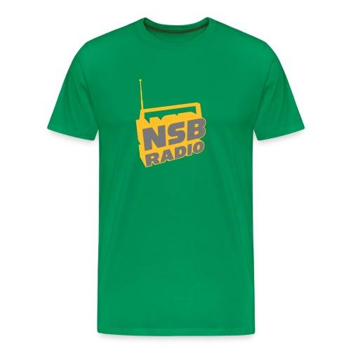 NSB Cammo and Yellow on Khaki T - Men's Premium T-Shirt