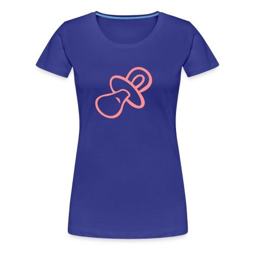 Pacifier T-Shirt (aqua) - Women's Premium T-Shirt