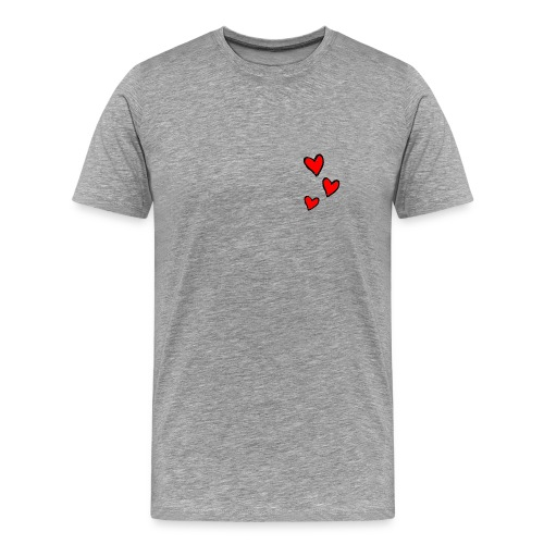 Men's Classic T-Shirt Hearts - Men's Premium T-Shirt