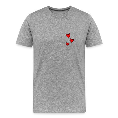 Men's Classic T-Shirt Hearts - Men's Premium T-Shirt