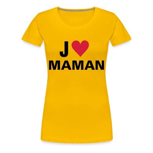 tee-shirt jaune J'aime maman - T-shirt Premium Femme