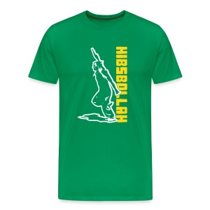 two colour hibsbollah - Men's Premium T-Shirt