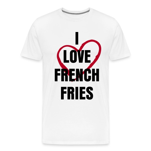 French fries Statement - Premium T-skjorte for menn