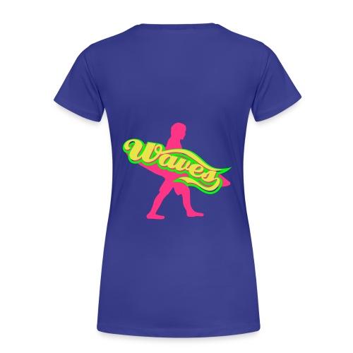 SurfWavesChillin' Tee girlie (turqouise) - Premium T-skjorte for kvinner