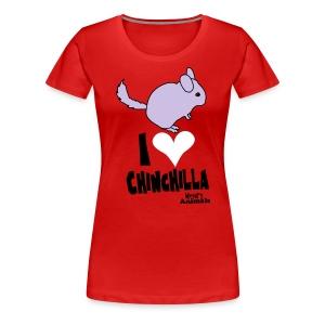 Girlieshirt rot mit Chinchilla - Frauen Premium T-Shirt