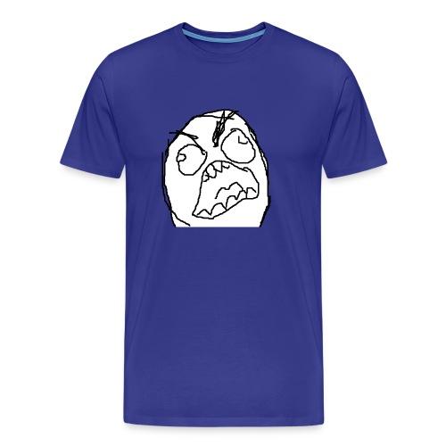 Rage Face bez liter Fuuuu- - Koszulka męska Premium