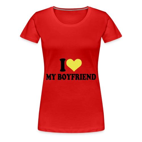womens i love my bf t shirt - Women's Premium T-Shirt