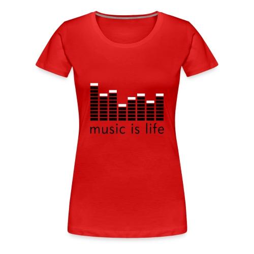 T-SHIRT MUSIC FEMME ROU - T-shirt Premium Femme
