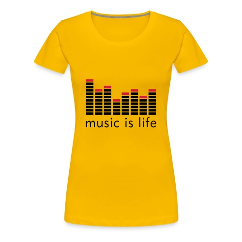 T-SHIRT MUSIC FEMME ROSE - T-shirt Premium Femme