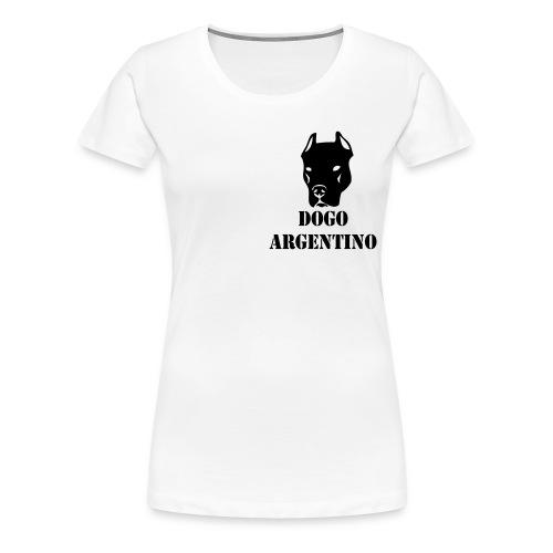 girls top - dogo argentino - Premium-T-shirt dam