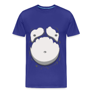 T-Shirts ~ Men's Premium T-Shirt ~ Comic Fat Belly Monotone, beer gut, beer belly, chest t-shirt