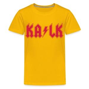 Roter Flexdruck  - Teenager Premium T-Shirt