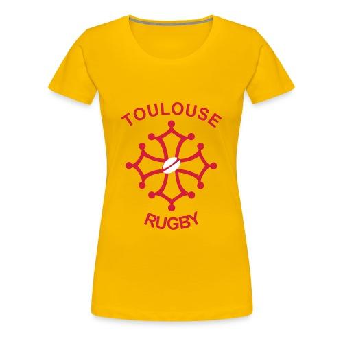T-SHIRT CROIX OCCI FEMME JAU - T-shirt Premium Femme