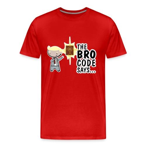 Camiseta Barney Stinson How i met your mother bro code - chico manga corta - Camiseta premium hombre