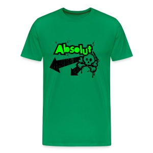 'Absolut' tee (distressed green/black print) - Men's Premium T-Shirt