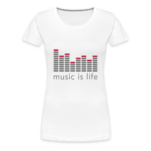 T-SHIRT MUSIC FEMME BLC - T-shirt Premium Femme