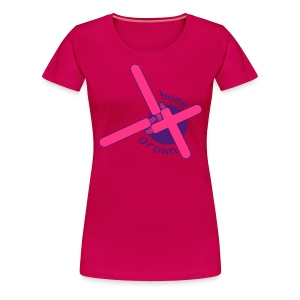 Home Grown pinkes Neon Girlie-Shirt - Frauen Premium T-Shirt