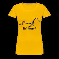 T-Shirts ~ Frauen Premium T-Shirt ~ Girlieshirt Ski Haserl