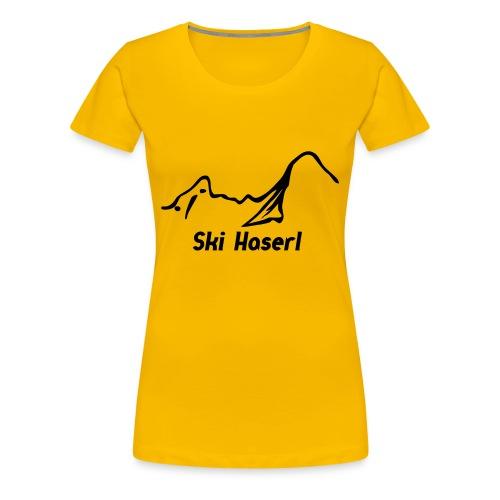Girlieshirt Ski Haserl - Frauen Premium T-Shirt
