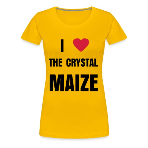 I Love The Crystal Maize - Femina - Women's Premium T-Shirt