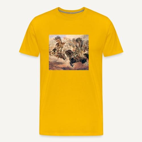 Atak husarii (kolorowa) - Koszulka męska Premium