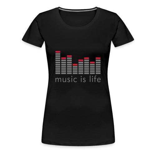 T-SHIRT MUSIC FEMME NOIR - T-shirt Premium Femme