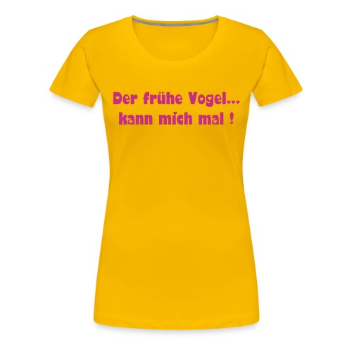 Vogel girl - Frauen Premium T-Shirt