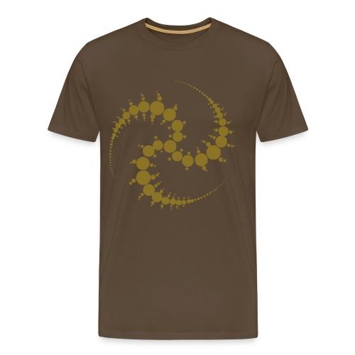 Cropcircle / Kornkreis - T-Shirt (gold) - Männer Premium T-Shirt