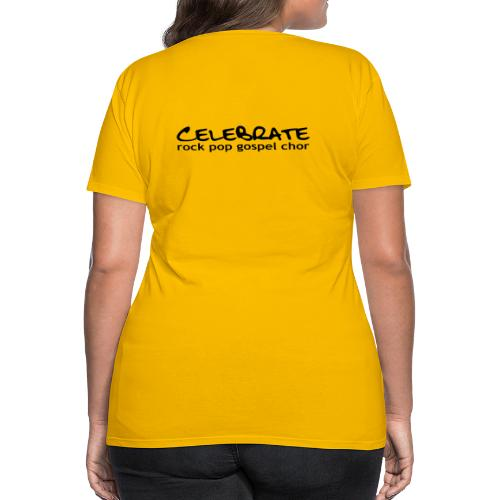 Frauen-Shirt - Logo hinten (Text vorn änderbar) - Frauen Premium T-Shirt