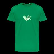 T-Shirts ~ Männer Premium T-Shirt ~ Kiffender, leuchtender Hase (medium) schweres T-Shirt