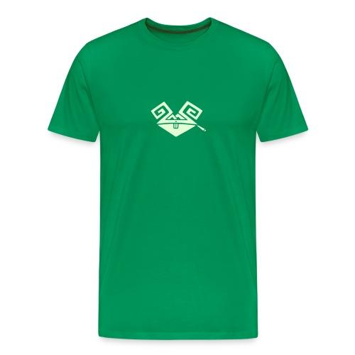 Kiffender, leuchtender Hase (medium) schweres T-Shirt - Männer Premium T-Shirt