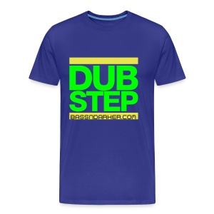 Blue plain DUB STEP Tee - Men's Premium T-Shirt