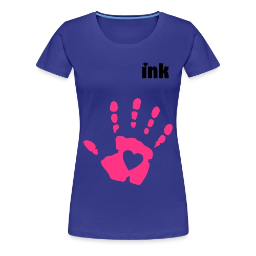 ink heart t-shirt  limited - Premium T-skjorte for kvinner