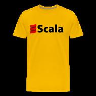 T-Shirts ~ Men's Premium T-Shirt ~ Men's Colour T-Shirt with Black Scala Logo