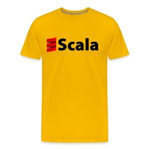 Men's Colour T-Shirt with Black Scala Logo - Men's Premium T-Shirt
