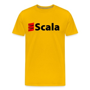 Men's Colour T-Shirt with Black Scala Logo - Men's Premium T-Shirt