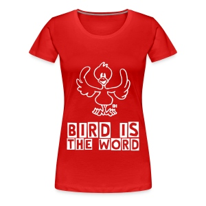 white bird (F) - Women's Premium T-Shirt